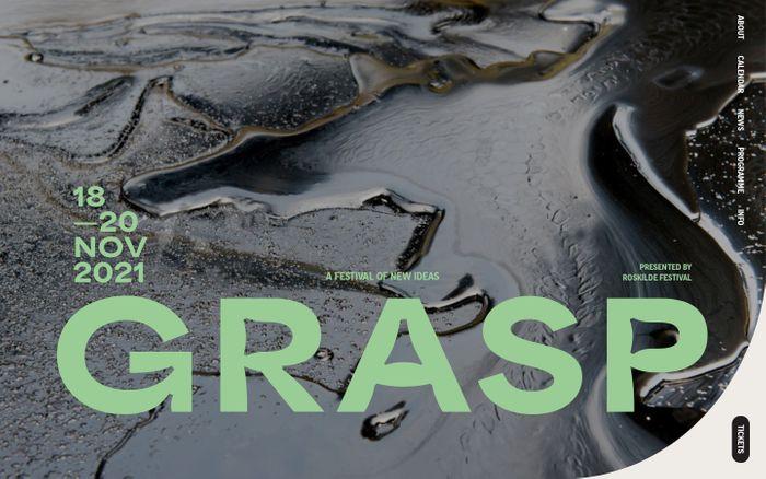 Screenshot of Grasp festival website
