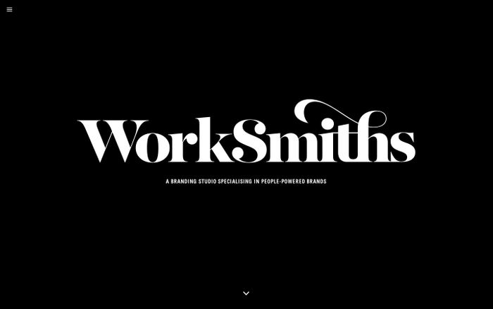 Screenshot of Worksmiths - Branding Studio, London