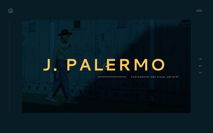 Screenshot of Jesper Palermo website