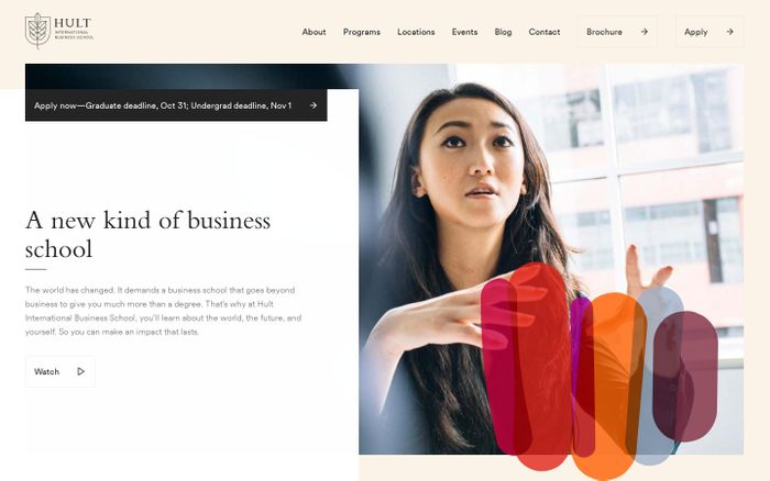 Screenshot of A New Way To Study Business | Hult International Business School