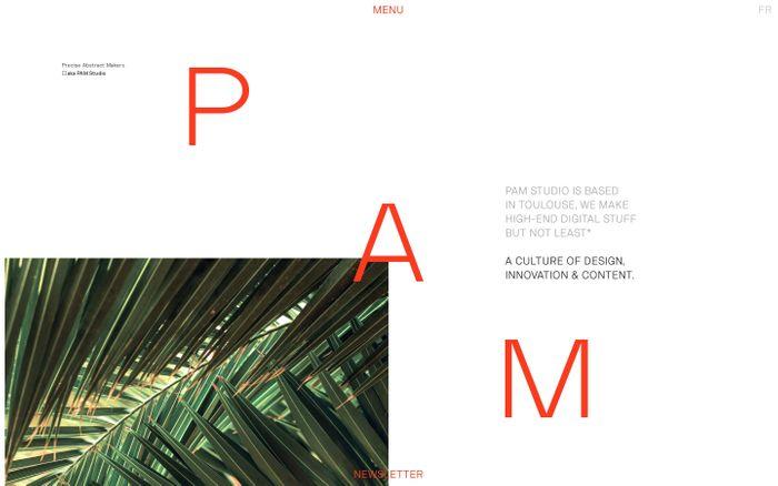 Screenshot of French Digital Studio Toulouse — PAM Studio