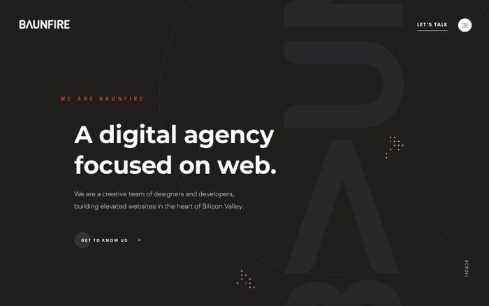 Screenshot of Baunfire   Digital Agency in Silicon Valley   Web Design, Creative, Brand Strategy
