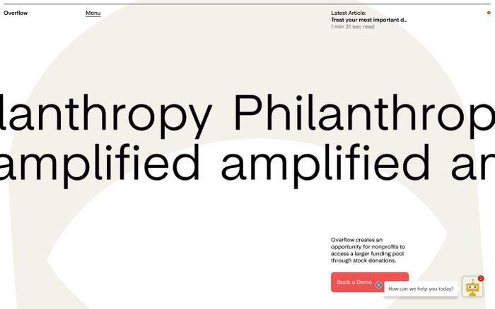 Screenshot of Overflow website