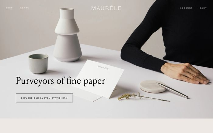 Screenshot of Maurele Paper Goods