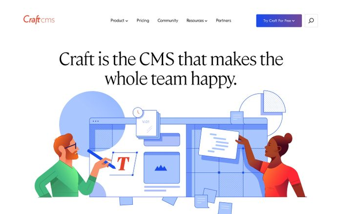 Screenshot of Craft CMS