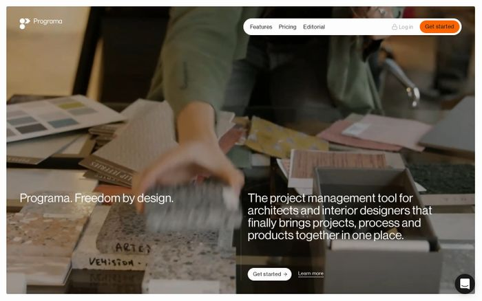 Screenshot of Programa website