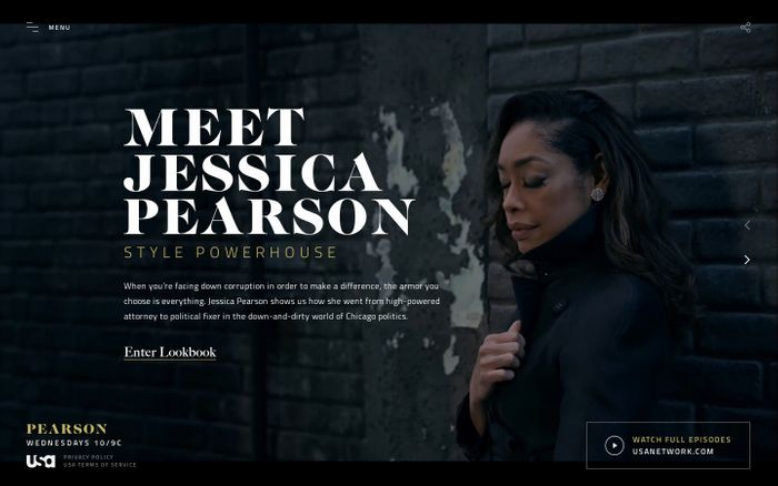 Screenshot of Pearson | USA Network