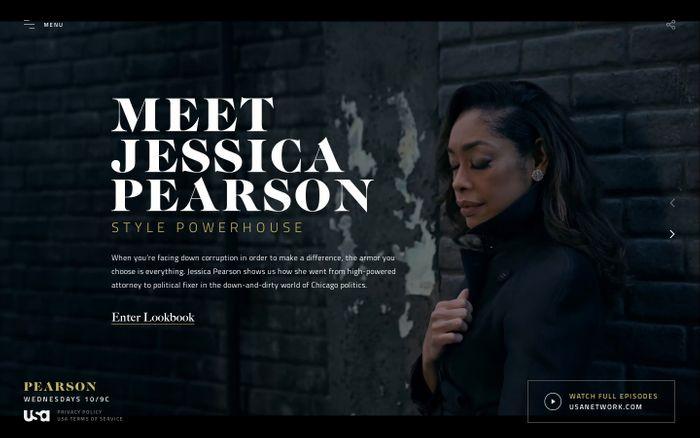 Screenshot of Pearson | USA Network website