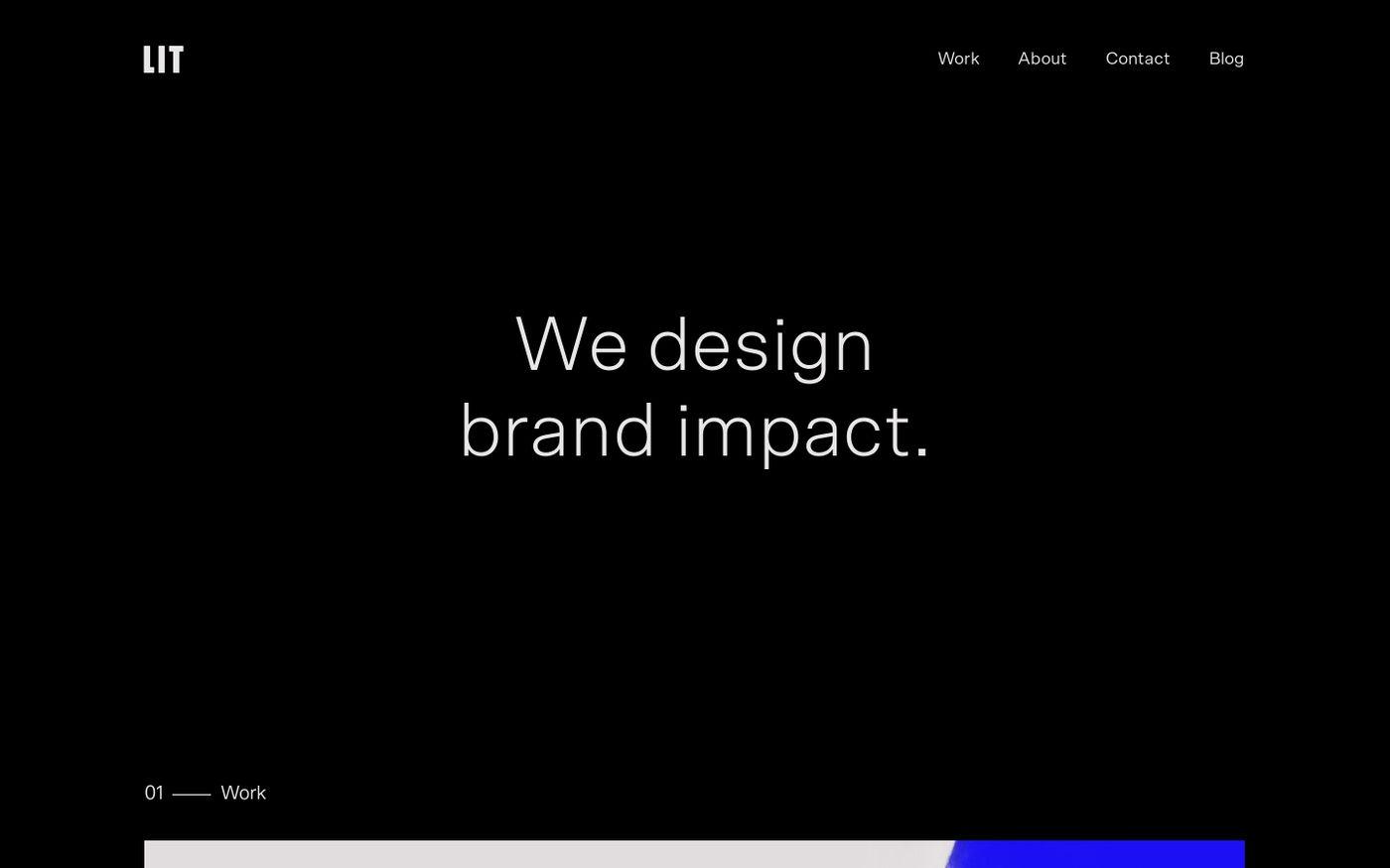 Screenshot of Lit Create website