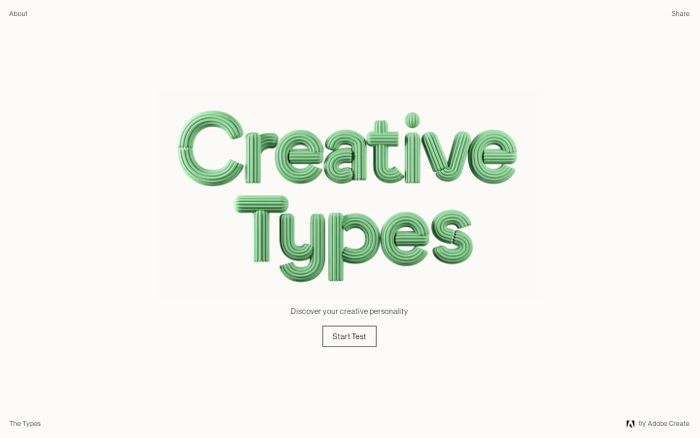 Screenshot of Creative Types by Adobe Create