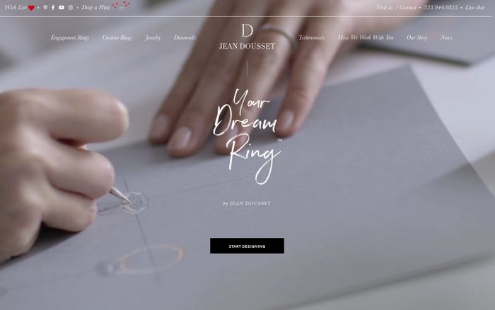 Screenshot of Your Dream Ring™ | Design Your Own Engagement Ring | Jean Doussset website