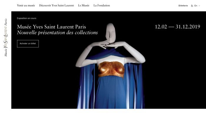Screenshot of Musée Yves Saint Laurent Paris