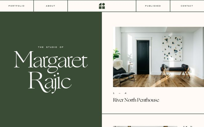 Screenshot of Margaret Rajic website