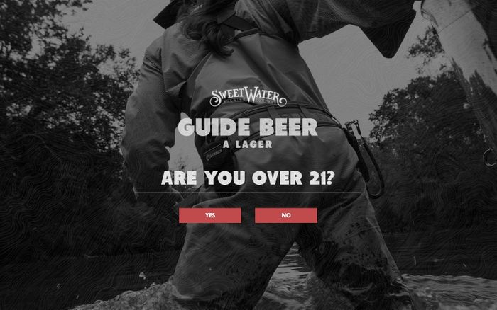 Screenshot of Guide beer website