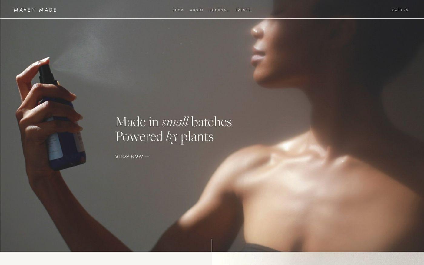 Screenshot of Maven Made website