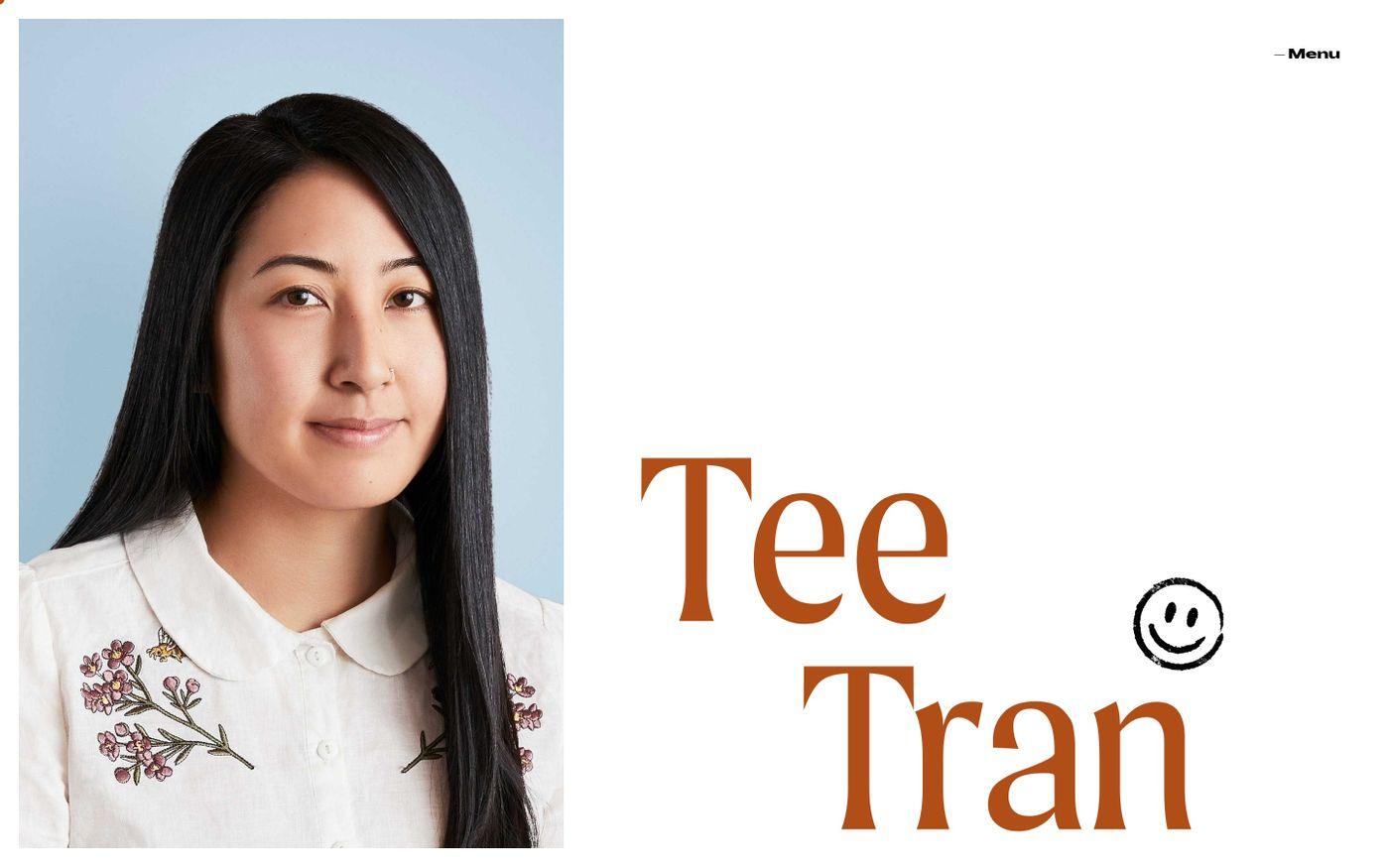 Screenshot of Tee Tran website