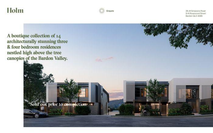 Screenshot of Holm Bardon website