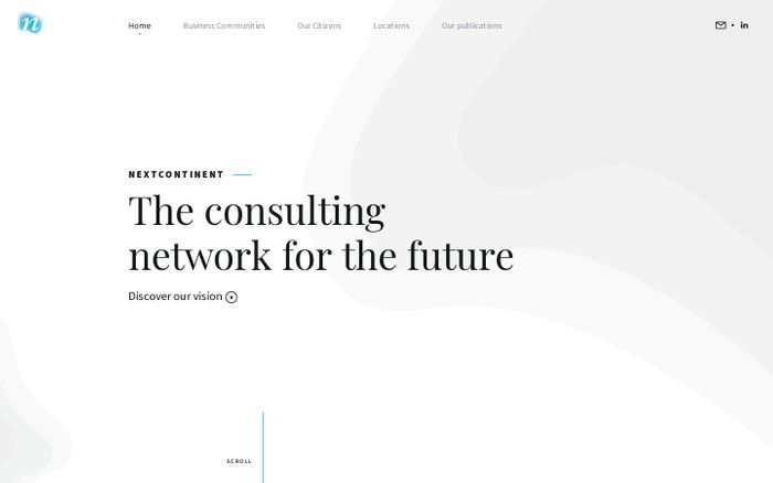 Screenshot of NextContinent - The consulting network for the future