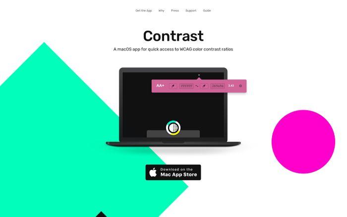 Screenshot of Contrast