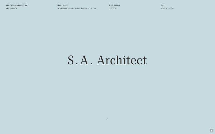 Screenshot of Angelovski Architect
