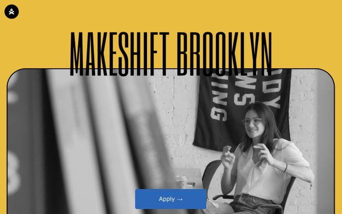 Screenshot of Makeshift Brooklyn website