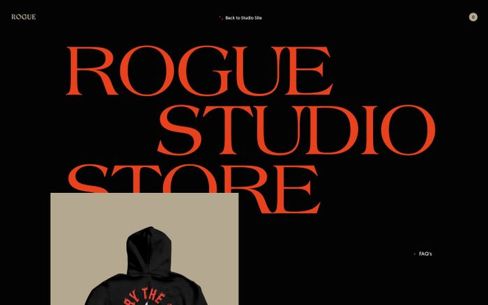Screenshot of Rogue Studio Store website