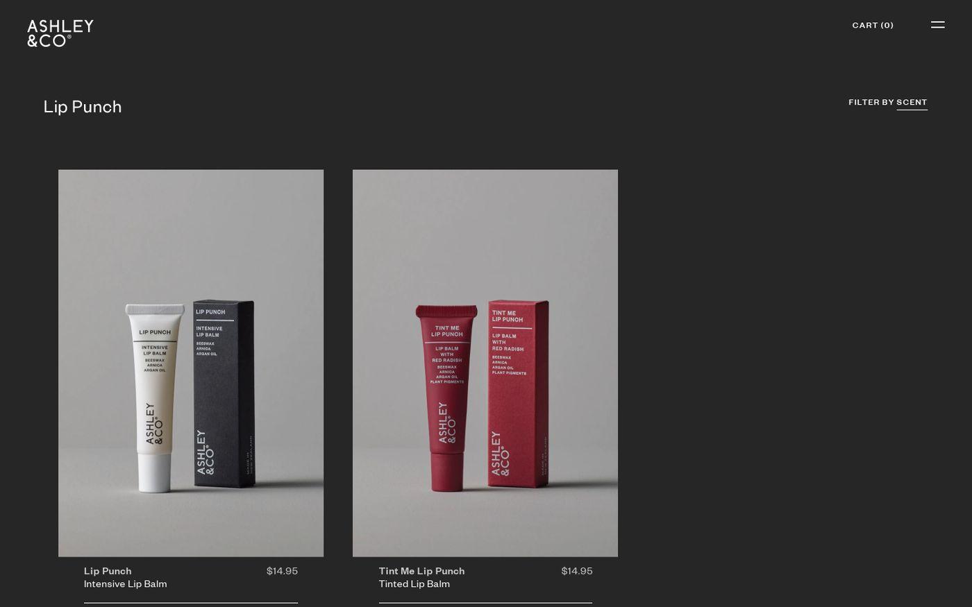 Screenshot of Ashley & Co website