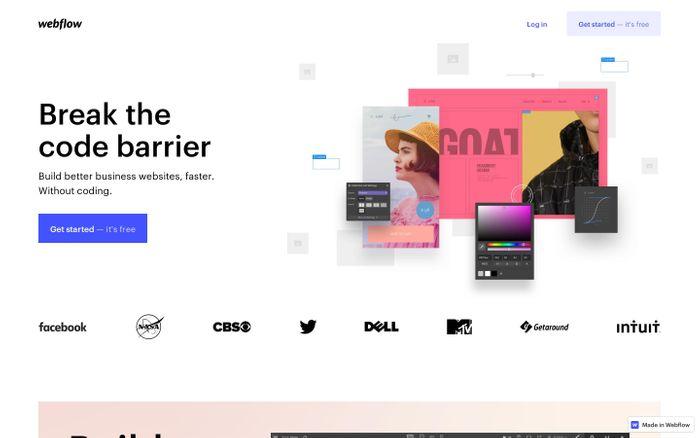 Screenshot of Responsive web design tool, CMS, and hosting platform | Webflow