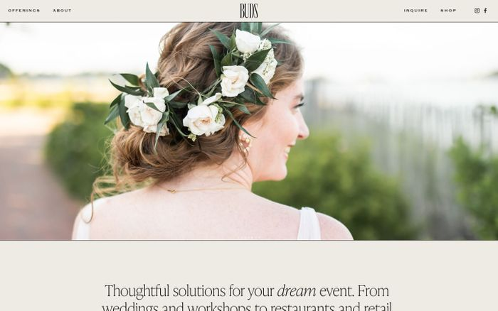 Screenshot of Buds floral website