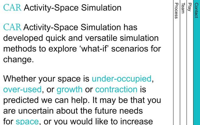 Screenshot of CAR — Activity-Space Simulation