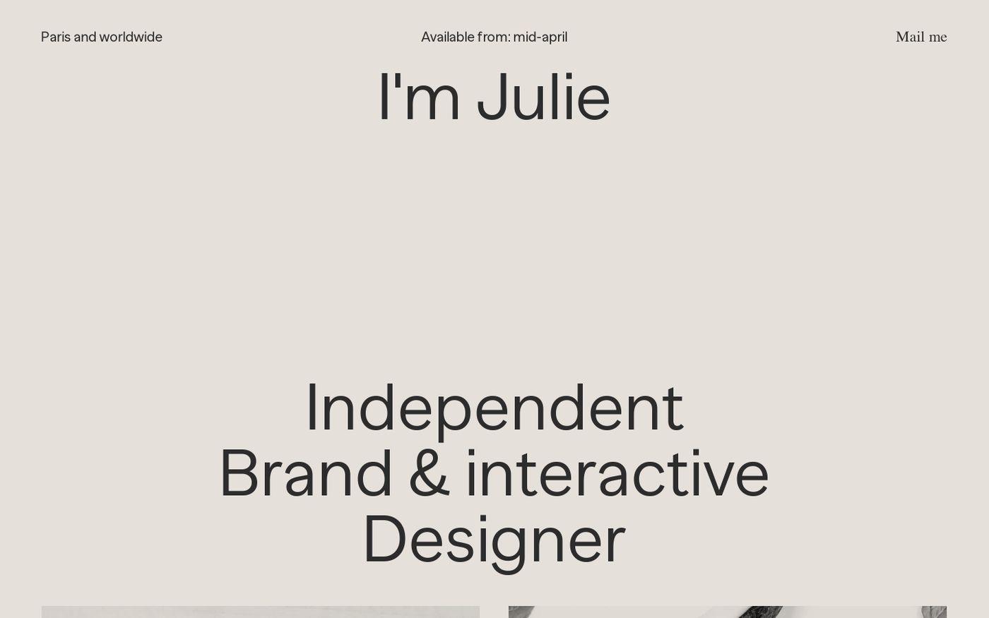Screenshot of Julie Muckensturm website
