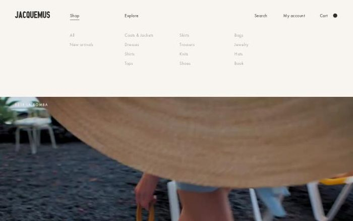 Screenshot of Jacquemus website