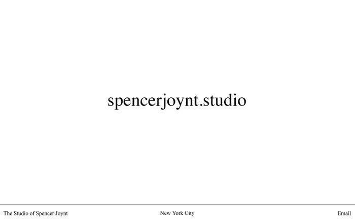 Screenshot of The Studio of Spencer Joynt