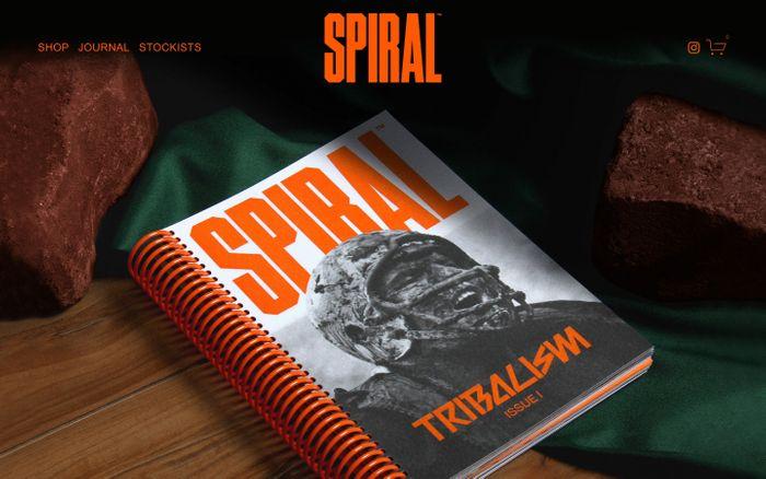 Screenshot of Spiral journal website