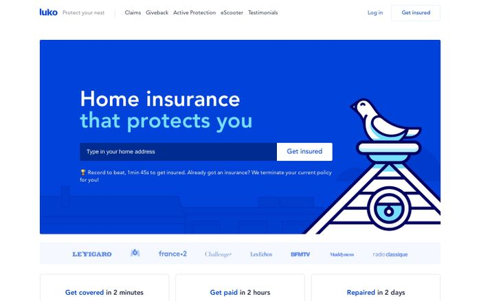 Screenshot of Luko - Assurance Habitation Responsable | Protect your nest