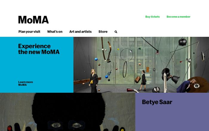 Screenshot of MoMA