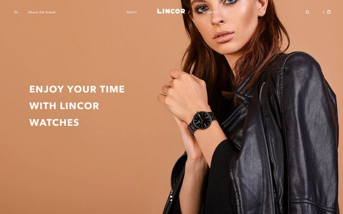 Screenshot of LINCOR | Watches from the heart of Russia
