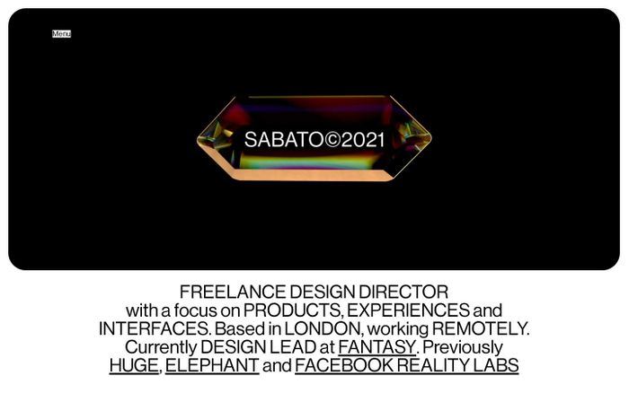 Screenshot of Sabato website