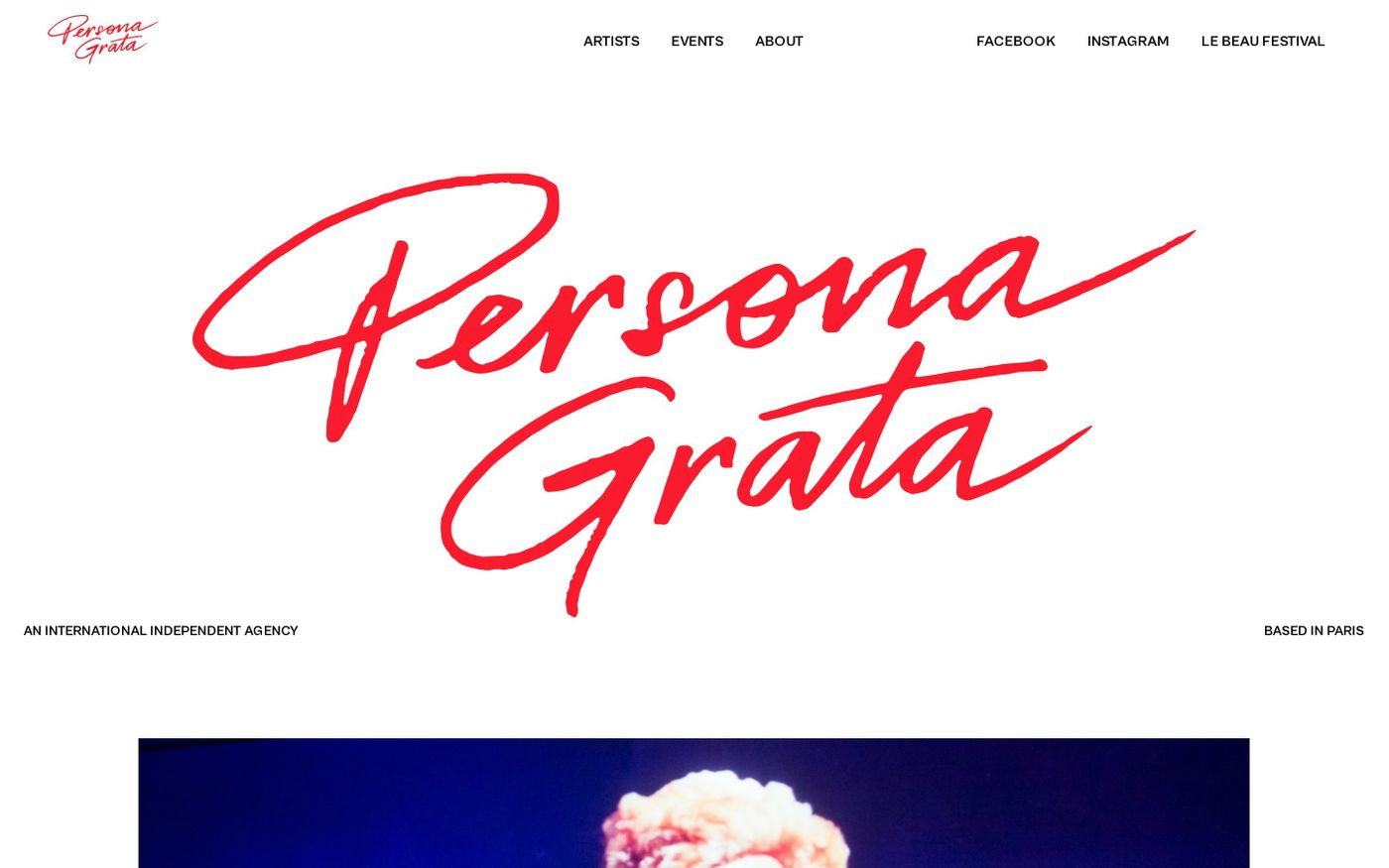 Screenshot of Persona Grata website