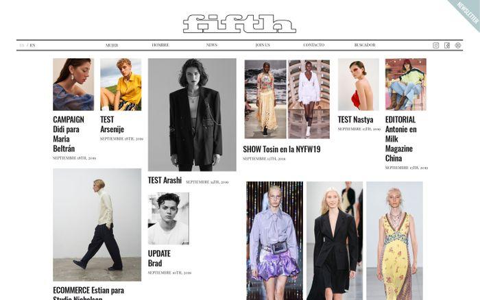 Screenshot of FIFTH Models | Agencia de modelos en Barcelona