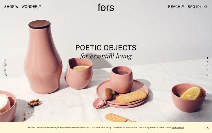 Screenshot of Førs website