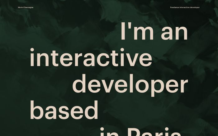 Screenshot of Kévin Chassagne | Front-end developer