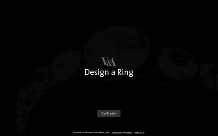 Screenshot of V&A Design a Ring
