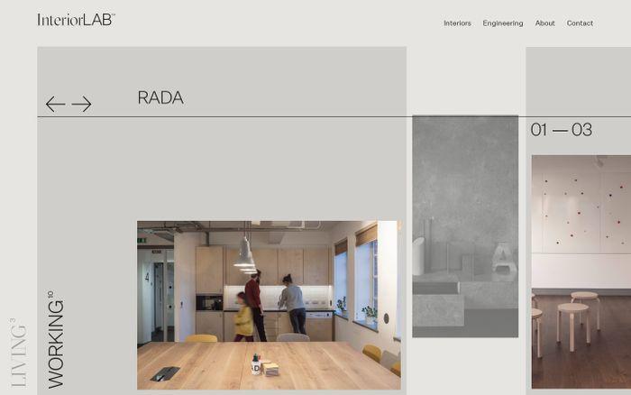 Screenshot of InteriorLab design website