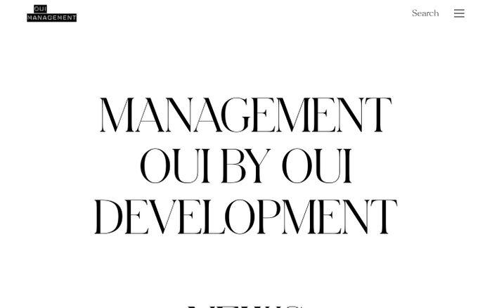Screenshot of Oui Management website