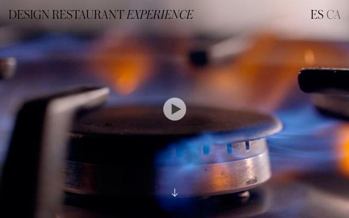 Screenshot of Design The Restaurant Experience website
