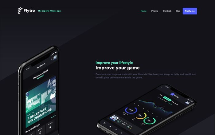 Screenshot of Flytro - The esports fitness app