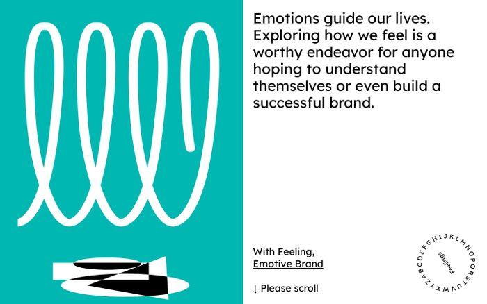 Screenshot of Emotive Feels website