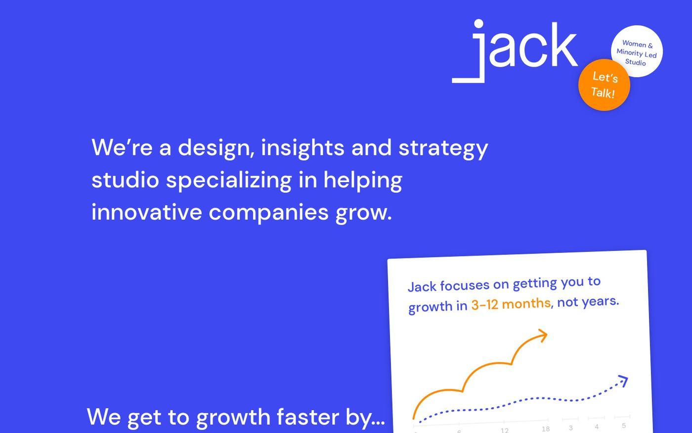 Screenshot of Jack Strategy website