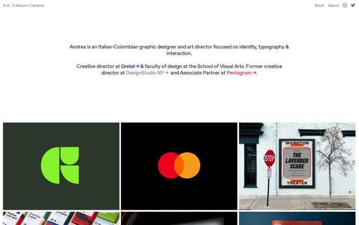 Screenshot of Trabucco Campos website